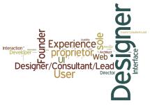designer founder experience designer/consultant/lead user proprietor sole